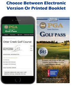 2018 Iowa PGA Golf Book Choose Between Two
